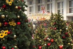 MOSKAU, RUSSLAND - DEZEMBER 2017: Weihnachten und neues Jahr auf Manege-Quadrat Festival-Moskau-Jahreszeiten Lizenzfreie Stockfotografie