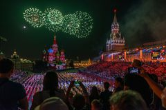 Moskau, Russland - 08 24 2018 - 09 02 2018: Festival Spasskaya-Schleppseil Lizenzfreie Stockfotografie