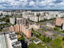 Moskau, Russland - 20. Juli 2017 Draufsicht Verwaltungsbezirkes Zelenograd Lizenzfreie Stockfotografie
