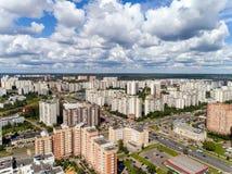 Moskau, Russland - 20. Juli 2017 Draufsicht Verwaltungsbezirkes Zelenograd Lizenzfreies Stockbild