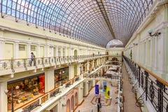 Moskau, Russland, Juli, 12,2018, Interioir des Luxuseinkaufscents Lizenzfreie Stockfotografie