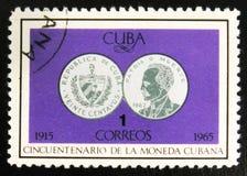 MOSKAU, RUSSLAND - 15. JULI 2017: Seltener Stempel gedruckt in Kuba-Shows Stockfoto