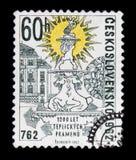 MOSKAU, RUSSLAND - 20. JUNI 2017: Ein Stempel gedruckt in Czechoslovaki Lizenzfreies Stockbild
