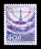MOSKAU, RUSSLAND - 20. JUNI 2017: Ein Stempel gedruckt in Czechoslovaki Stockbild