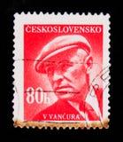 MOSKAU, RUSSLAND - 20. JUNI 2017: Ein Stempel gedruckt in Czechoslovaki Stockfotografie