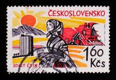 MOSKAU, RUSSLAND - 20. JUNI 2017: Ein Stempel gedruckt in Czechoslovaki Stockfoto