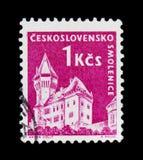 MOSKAU, RUSSLAND - 20. JUNI 2017: Ein Stempel gedruckt in Czechoslovaki Stockfotos