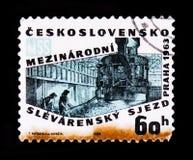 MOSKAU, RUSSLAND - 20. JUNI 2017: Ein Stempel gedruckt in Czechoslovaki Lizenzfreie Stockbilder