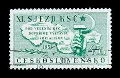 MOSKAU, RUSSLAND - 20. JUNI 2017: Ein Stempel gedruckt in Czechoslovaki Lizenzfreies Stockfoto