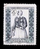 MOSKAU, RUSSLAND - 20. JUNI 2017: Ein Stempel gedruckt in Polen-Shows Lizenzfreies Stockbild