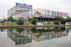 MOSKAU, RUSSLAND - 20. JUNI: Ostankino-technisches Zentrum - televis Lizenzfreies Stockbild