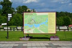 Moskau, Russland - 8. Juni 2016 Plan des Museums Tsaritsyno im Sommer Lizenzfreies Stockfoto