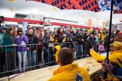 Moskau, Russland - 12. Juni 2016: Weltmeisterschaft WTCC am Moskau-Kanal stockbilder