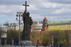 MOSKAU, RUSSLAND -, 13 KANN 2017: Monument von Prinzen Vladimir an Kr Stockfoto