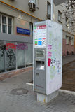 Moskau, Russland - 14. März 2016 ATM von Bank von Moskau auf Garten-Ring Stockfoto