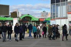 Moskau, Russland - 14. März 2016 Bereich Bahnhofs Yaroslavsky Lizenzfreies Stockbild
