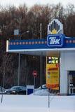 MOSKAU, RUSSLAND - 20. MÄRZ 2018: Brennstoffaufnahmestation TNK in Moskau Stockfoto