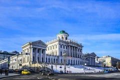 Moskau, Russland-März, 19, 2018: Das Gebäude der russischen Landesbibliothek In der Vergangenheit Pashkov-` s Haus stockbilder
