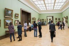 MOSKAU, RUSSLAND 1. MÄRZ: Der Zustand Tretjakow Art Gallery Stockbilder