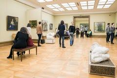 MOSKAU, RUSSLAND 1. MÄRZ: Der Zustand Tretjakow Art Gallery Lizenzfreie Stockbilder