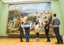 MOSKAU, RUSSLAND 1. MÄRZ: Der Zustand Tretjakow Art Gallery in Mosco Lizenzfreie Stockfotografie