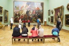 MOSKAU, RUSSLAND 1. MÄRZ: Der Zustand Tretjakow Art Gallery in Mosco Stockbild