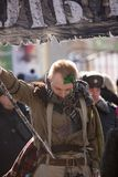 MOSKAU, RUSSLAND - 24. MÄRZ 2018: Leute feiern den TAG des HEILIGEN PATRICK Lizenzfreie Stockfotografie