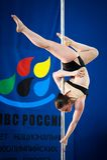 MOSKAU, RUSSLAND - 22. MÄRZ: Pole-Sportauslese 2014 am 22. März 2014 in Moskau, Russland Stockbilder