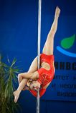 MOSKAU, RUSSLAND - 22. MÄRZ: Pole-Sportauslese 2014 am 22. März 2014 in Moskau, Russland Lizenzfreie Stockfotos