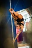 MOSKAU, RUSSLAND - 22. MÄRZ: Pole-Sportauslese 2014 am 22. März 2014 in Moskau, Russland Stockfotografie