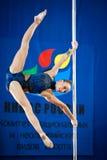 MOSKAU, RUSSLAND - 22. MÄRZ: Pole-Sportauslese 2014 am 22. März 2014 in Moskau, Russland Stockfotos