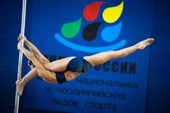MOSKAU, RUSSLAND - 22. MÄRZ: Pole-Sportauslese 2014 am 22. März 2014 in Moskau, Russland Lizenzfreie Stockfotografie