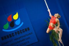 MOSKAU, RUSSLAND - 22. MÄRZ: Pole-Sportauslese 2014 am 22. März 2014 in Moskau, Russland Stockfoto