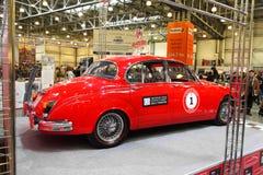 MOSKAU, RUSSLAND - 9. MÄRZ: Retro Automobil Jaguar M II 1962 an Stockfotos