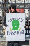 Russische Aktivist und Blogger Griffe Anton Nosik (alias dolboeb) Lizenzfreie Stockfotografie