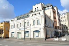 Moskau, Russland, März, 20, 2016, russische Szene: das Haus des Kaufmannes M V Shilov auf Pokrovka-Straße Es wurde in Cent 19 err Lizenzfreie Stockfotografie