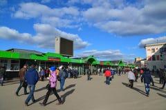 Moskau, Russland - 14. März 2016 Vorstadtkartenschalter auf Bahnhof Yaroslavsky Stockfotos