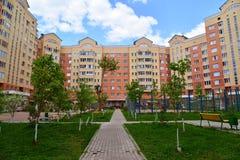Moskau, Russland - 11. Mai 2016 Bezirk Nr. 20 in Zelenograd Stockfotografie