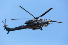 MOSKAU, RUSSLAND - 8. MAI: Hubschrauber Mi-28 Lizenzfreies Stockbild