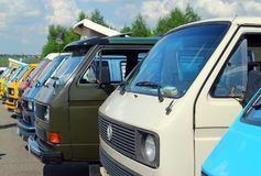 MOSKAU, RUSSLAND - 28. MAI 2016: Klassische Volkswagen-Transporter-T1-Art 3 am VW-Auto-Festival stockfoto