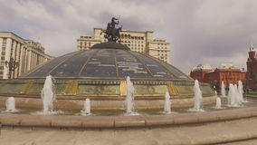 MOSKAU, RUSSLAND - 1. Mai 2016: Manezh-Quadrat-Stadtbildunterlassung stock video footage