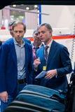 MOSKAU, RUSSLAND - 23. MAI 2015: Minister der Industrie und des Handels der Russischen Föderation Denis Manturov beim HeliRussia  Lizenzfreie Stockfotos
