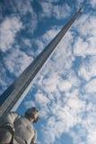 MOSKAU, RUSSLAND - 20. MAI 2009: Monument zu den Eroberern von Spase Stockfotos