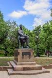 Moskau, Russland-Mai, 24, 2018: Monument zum russischen Komponisten, zum Pianisten und zum Leiter Sergei Rachmaninov auf Strastno Stockbilder