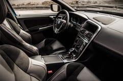 MOSKAU, RUSSLAND - 20. Mai 2017 POLESTAR VOLVOS XC60, inerior Ansicht Test von neuem Polestar Volvos XC60 Dieses Auto ist AWD kom Lizenzfreie Stockbilder