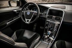 MOSKAU, RUSSLAND - 20. Mai 2017 POLESTAR VOLVOS XC60, inerior Ansicht Test von neuem Polestar Volvos XC60 Dieses Auto ist AWD kom Stockbild