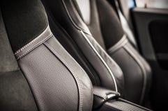 MOSKAU, RUSSLAND - 20. Mai 2017 POLESTAR VOLVOS XC60, inerior Ansicht Test von neuem Polestar Volvos XC60 Dieses Auto ist AWD kom Lizenzfreie Stockfotografie