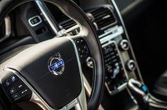 MOSKAU, RUSSLAND - 20. Mai 2017 POLESTAR VOLVOS XC60, inerior Ansicht Test von neuem Polestar Volvos XC60 Dieses Auto ist AWD kom Lizenzfreie Stockfotos