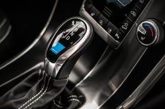 MOSKAU, RUSSLAND - 20. Mai 2017 POLESTAR VOLVOS XC60, inerior Ansicht Test von neuem Polestar Volvos XC60 Dieses Auto ist AWD kom Stockfotografie
