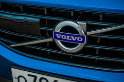 MOSKAU, RUSSLAND - 20. Mai 2017 POLESTAR VOLVOS XC60, VorderSideansicht Test von neuem Polestar Volvos XC60 Dieses Auto ist AWD k Stockfotos